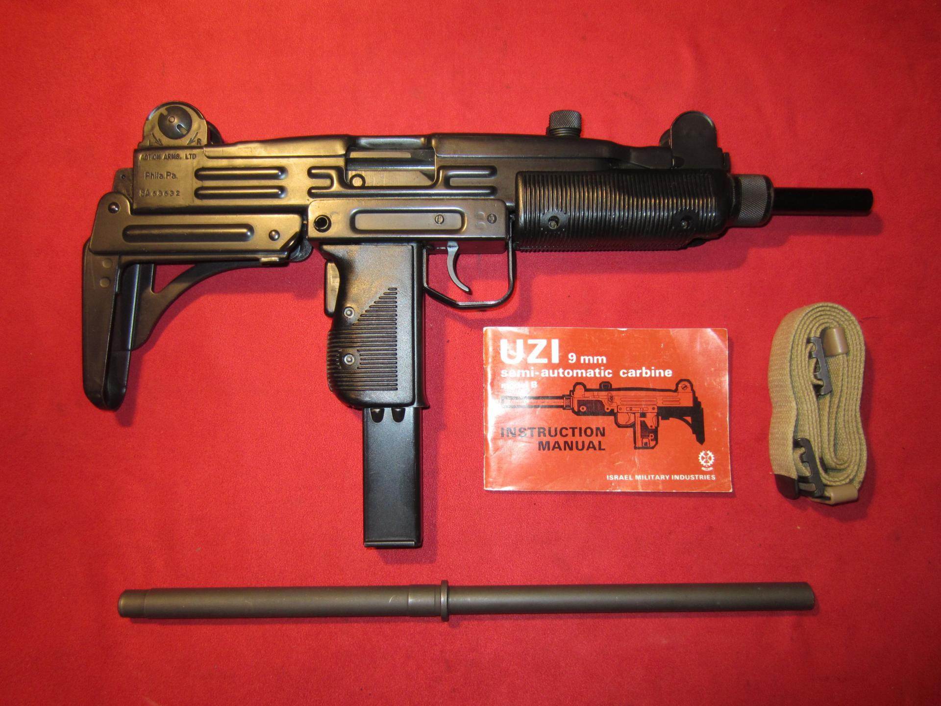Like New IMI Uzi Model B Carbine 9mm with Extras - Semi-Auto