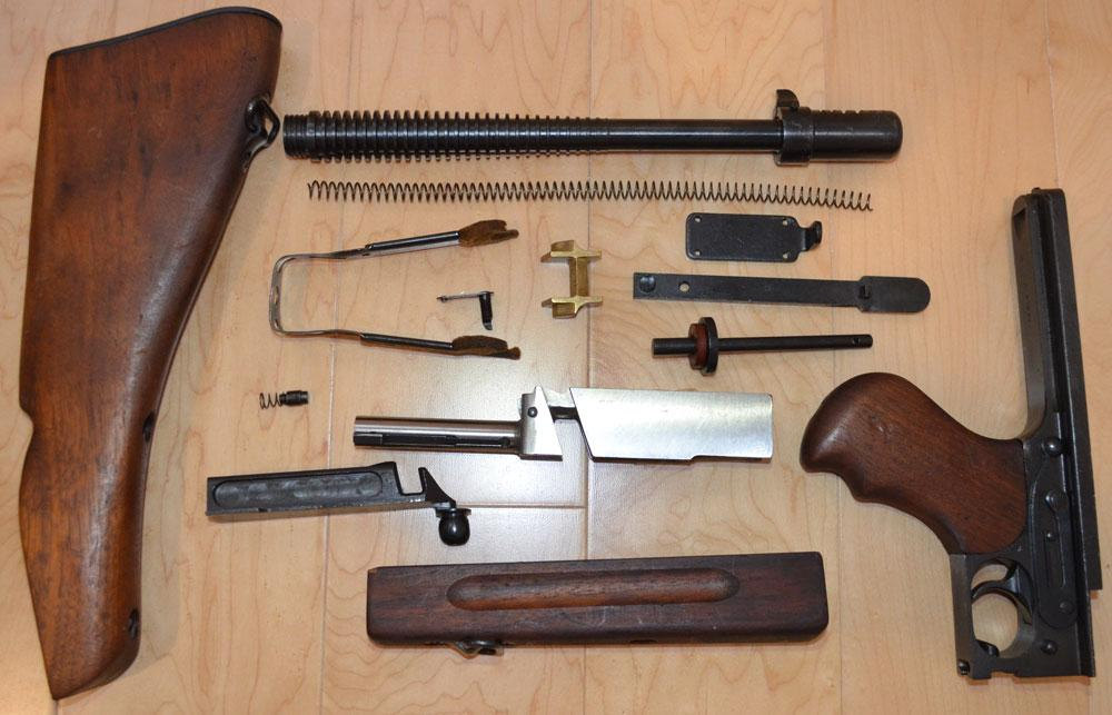 Thompson M1928A1 parts kit with excellent barrel - Parts and