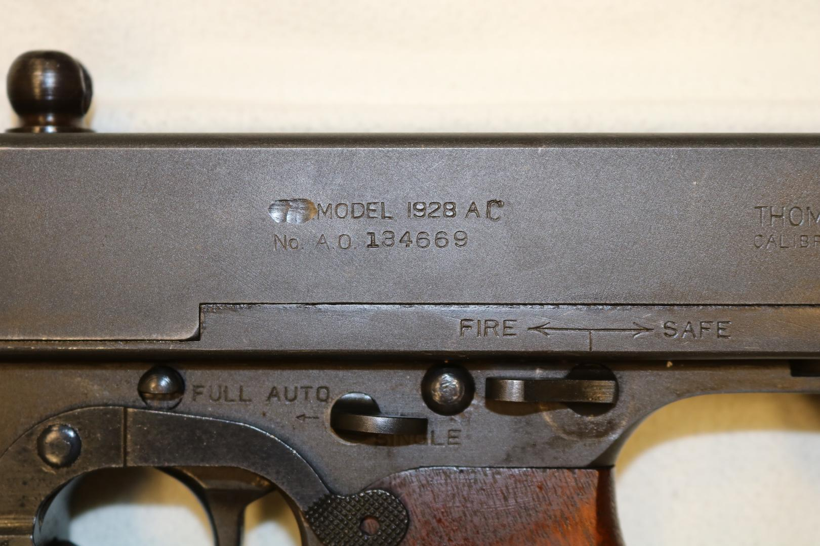 WTS Thompson 1928AC Bridgeport  45 SMG Transferable - NFA