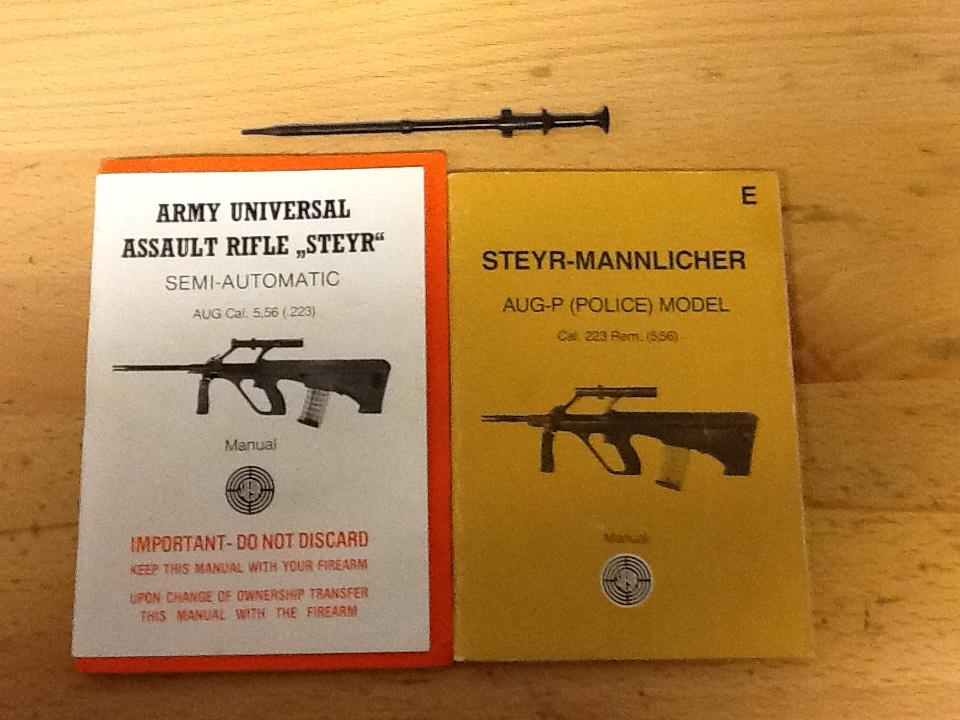 WTS Steyr Aug manuals and firing pin - Parts and Accessories