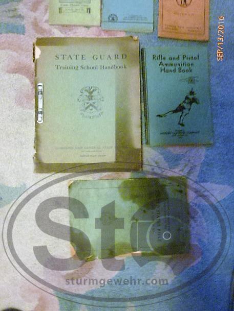 State Guard Train. Manual nodate,Rifle & pistol ammo hndbook 1934,US Rifle 1918.JPG